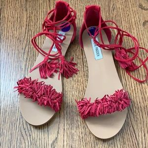 Steve Madden tie up sandals